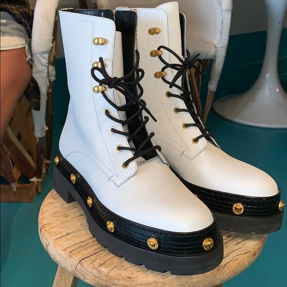11ba4c5df91 Versace Shoes | Medusa Medallion Laceup Combat Boots | Poshmark